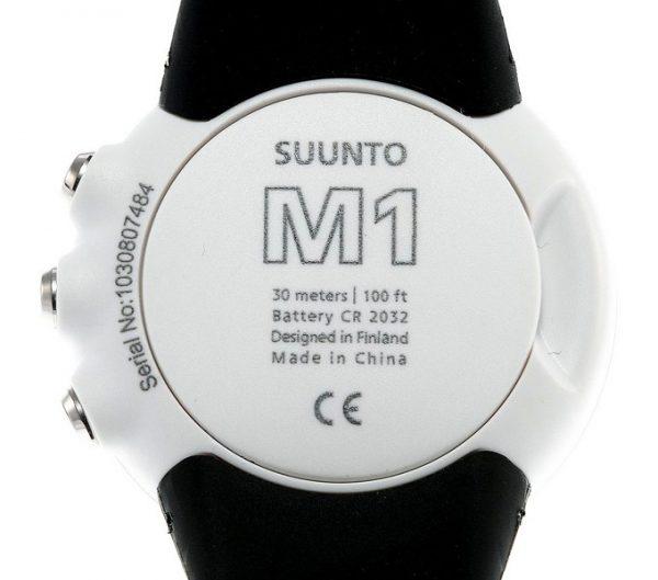 montre sport Suunto M1 et M2, Arrière Suunto M1