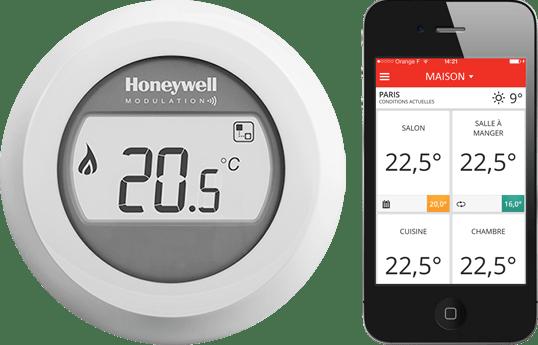 Gestion à distance du thermostat Honeywell Y87RF