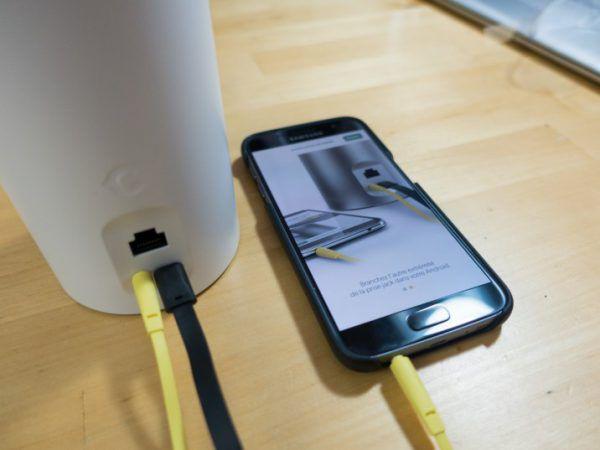Connexion par câble jack