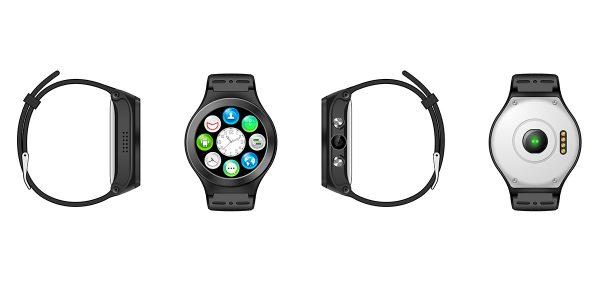 Illustration des vues de la montre connectée ZGPAX S99A