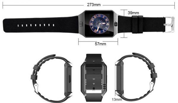 Dimensions de la Padgene Smart Watch