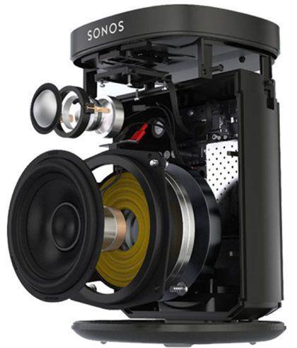Sonos Play: 1 est conçu sur mesure par Sonos pour produire un son HiFi riche et puissant qui est limpide à tout volume. Il contient deux amplificateurs numériques de classe D parfaitement adaptés aux haut-parleurs et à l'architecture acoustique. Un tweeter crée une réponse haute fréquence nette et précise et un médium woofer 3,5 '' / 9 cm assure la reproduction fidèle des fréquences médiums cruciales pour une reproduction précise des voix et des instruments, ainsi que la restitution de basses profondes et riches.
