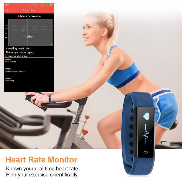 bracelet connecté Diggro ID115HR moniteur heart rate