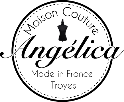 Logo Maison Couture Angélica Made in France Troyes