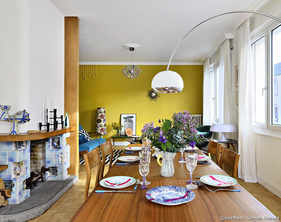 style vintage deco graphique et coloree d une maison a rennes
