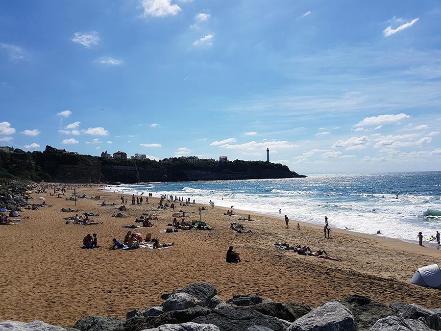 La plage d'Anglet à 12mn à pied
