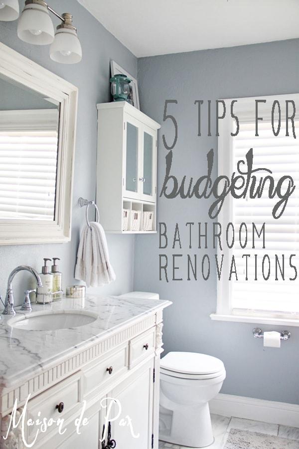 Bathroom Renovations Budget Tips on Bathroom Ideas On A Budget  id=31454