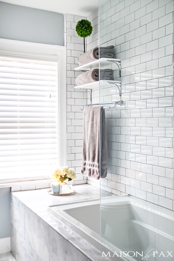 10 Tips for Designing a Small Bathroom - Maison de Pax on Small Space Small Bathroom Ideas With Tub id=29794