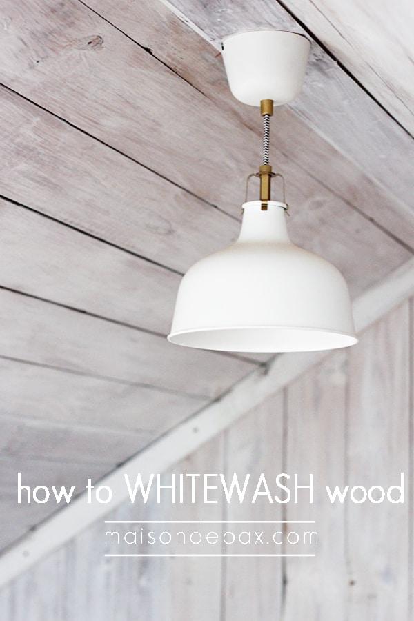 My Whitewashed Wood Attic Maison De Pax