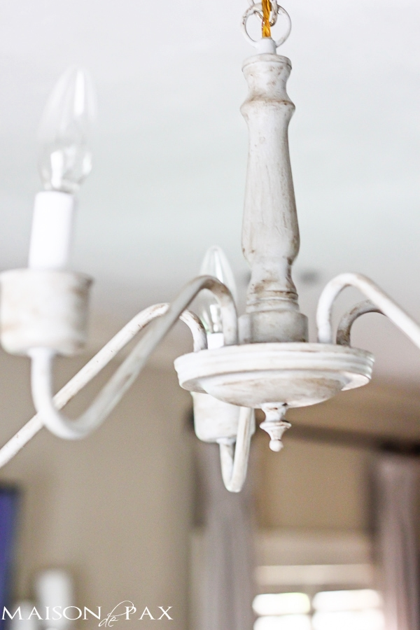Transform An Outdated Brass Chandelier With Chalk Paint Maisondepax