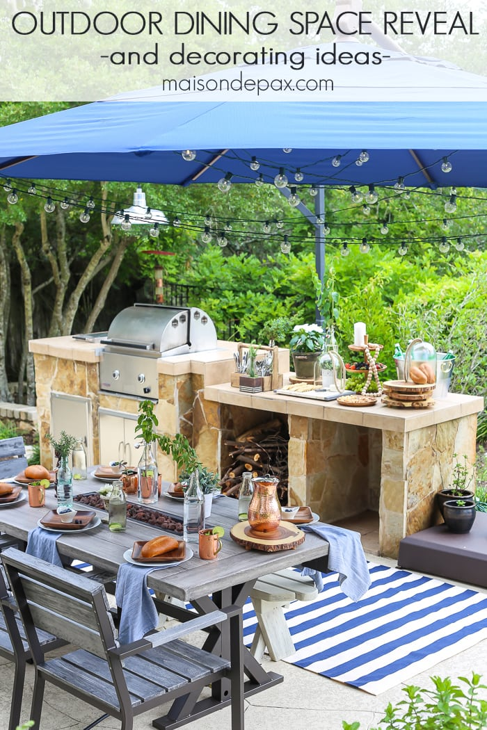 Summer Outdoor Dining Space REVEAL - Maison de Pax on Living Spaces Outdoor Dining id=42381