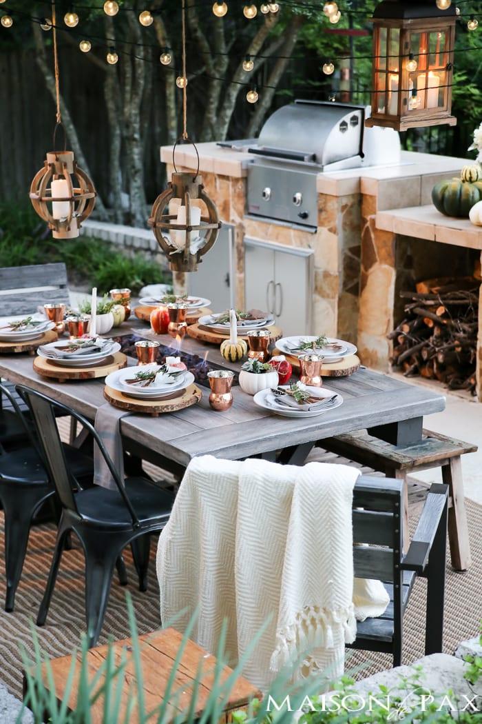Outdoor Fall Tablescape - Maison de Pax on Backyard Table Decor id=41897