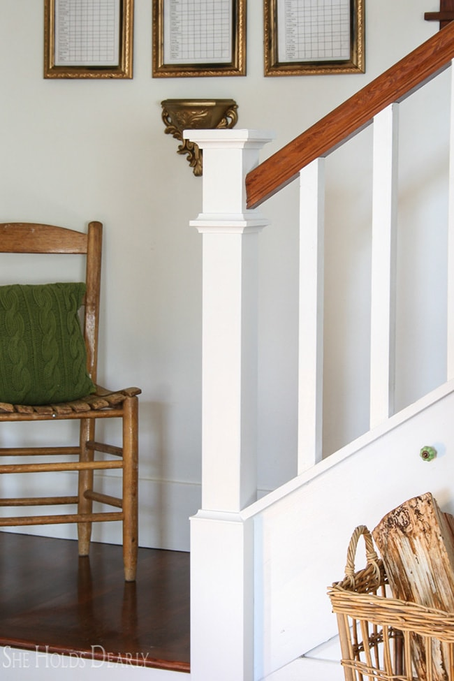 diy farmhouse newel post