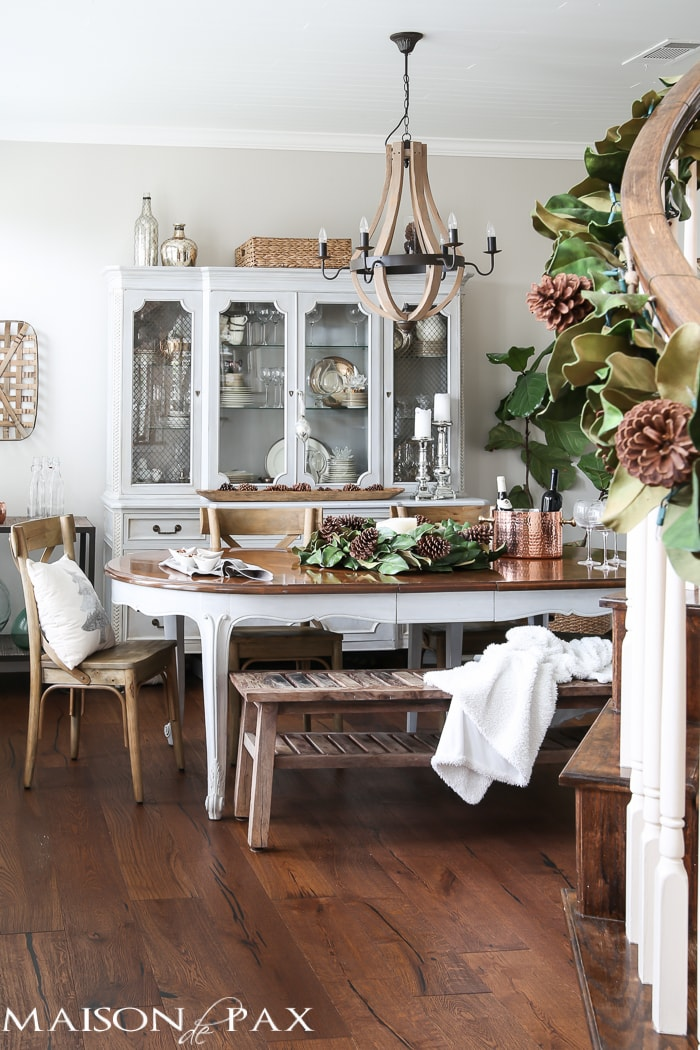 French Farmhouse Christmas Dining Room Maison De Pax