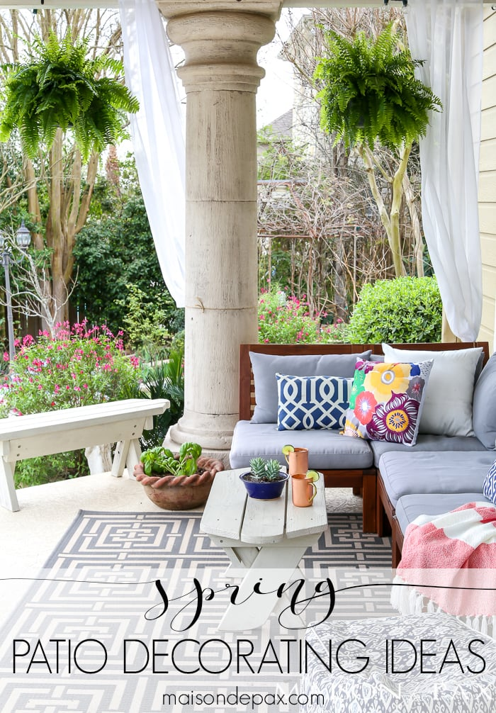 spring patio decorating ideas maison