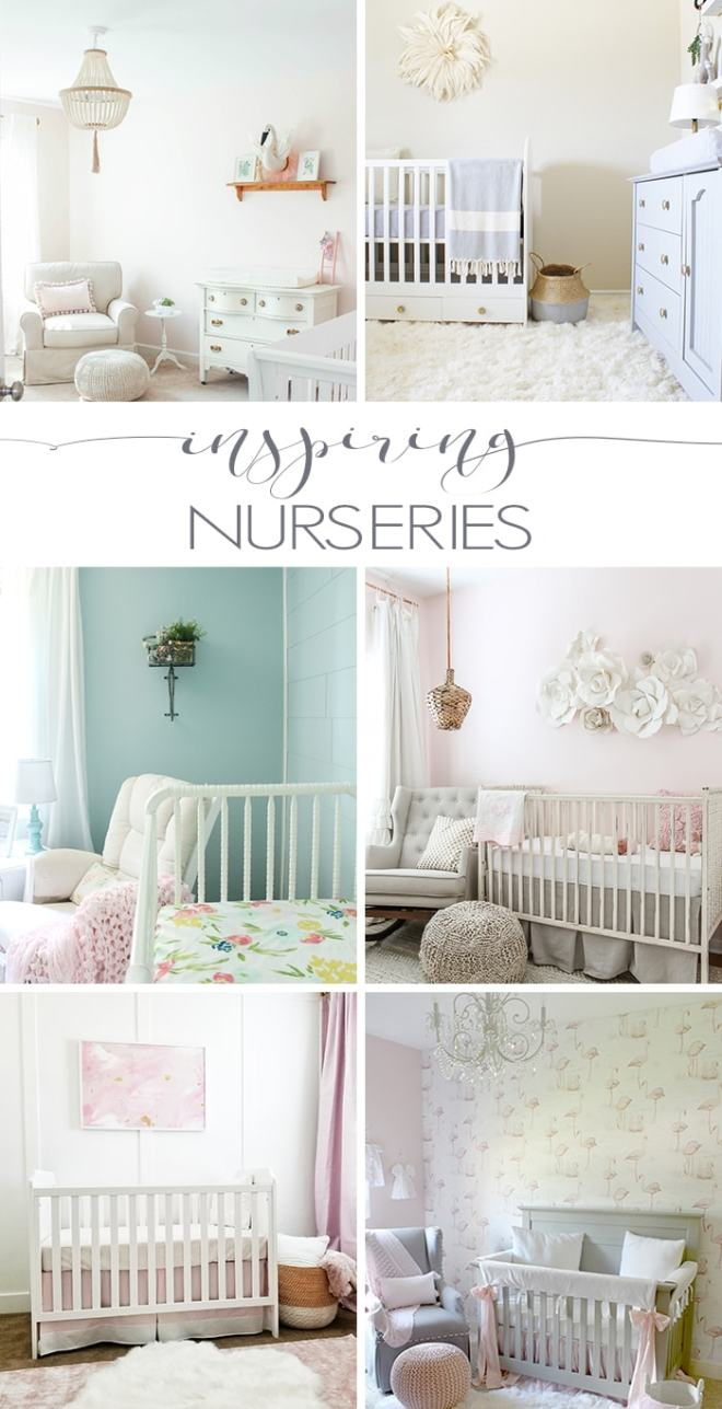 Looking for nursery decorating ideas? Don't miss these inspiring nurseries, full of diy projects, incredible nursery sources, and beautiful nursery decor ideas.