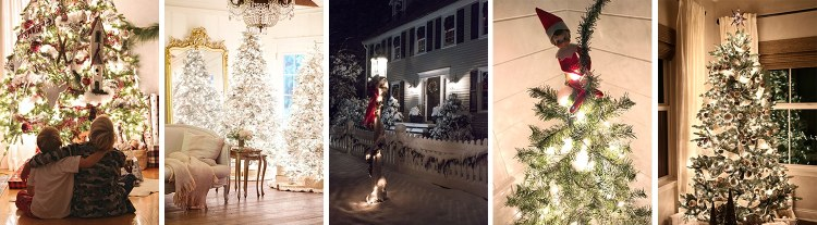 gorgeous Christmas lights at night in these 25+ home tours #christmasnightstour #holidayhometour #christmaslights