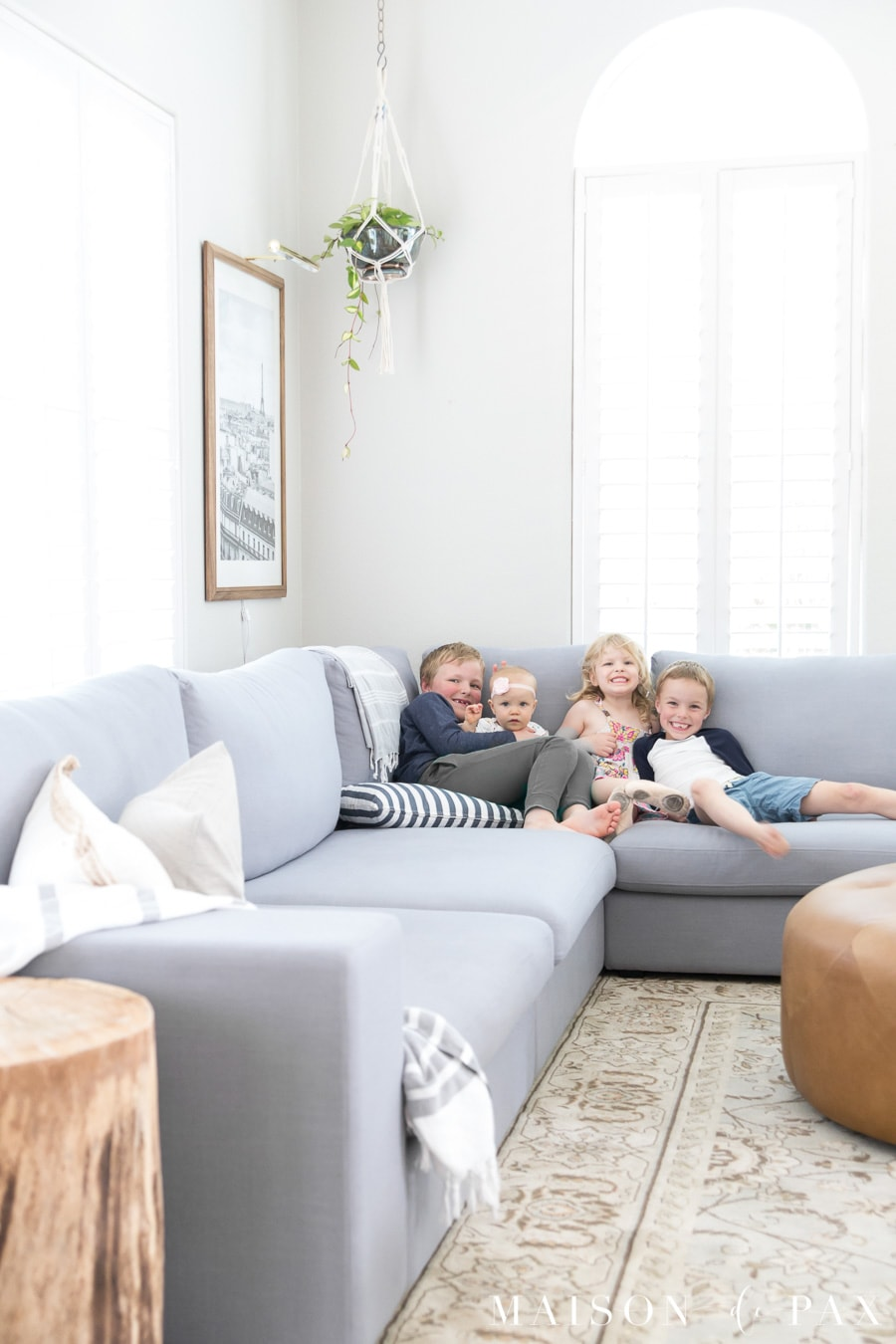 How to decorate a living room with a sectional - Maison de Pax on Room Decoration  id=79167
