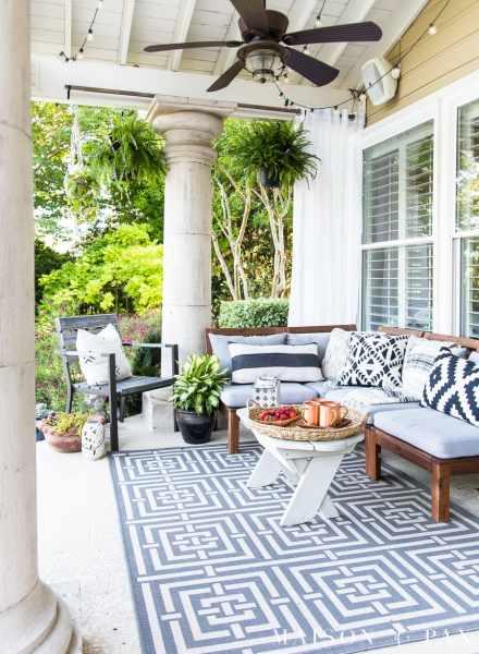 outdoor patio decorating ideas Summer Porch Decor Ideas: Ferns and Succulents - Maison de Pax