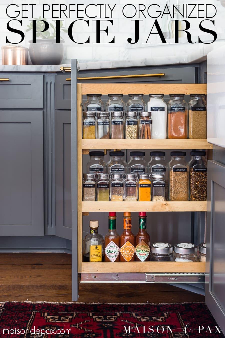 how to organize spices maison de pax
