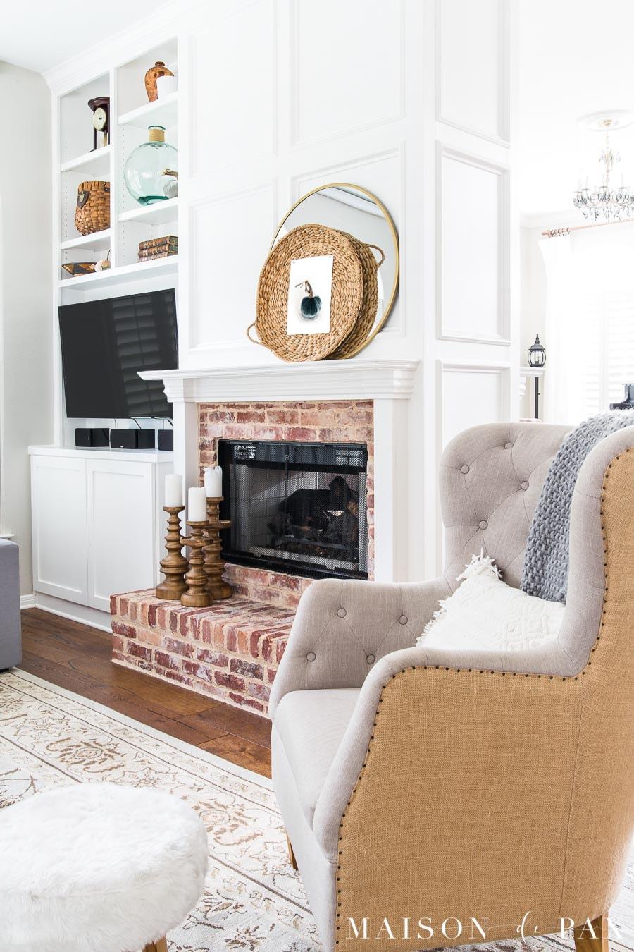 Gray Living Room with Simple Fall Decor - Maison de Pax on Room Decor Ideas  id=58023