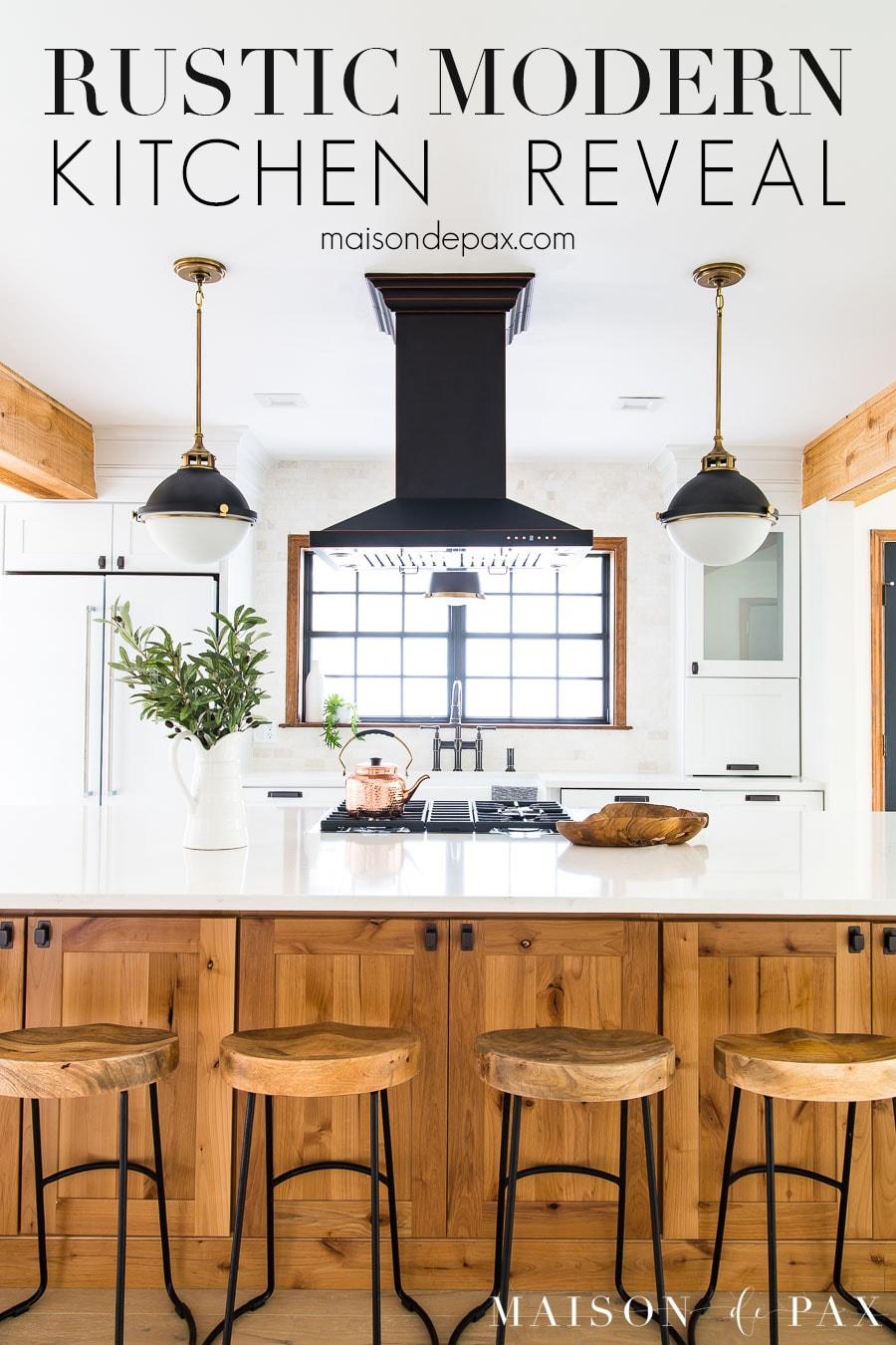 Rustic Modern Farmhouse Kitchen Reveal - Maison de Pax on Rustic Farmhouse Kitchen  id=30398