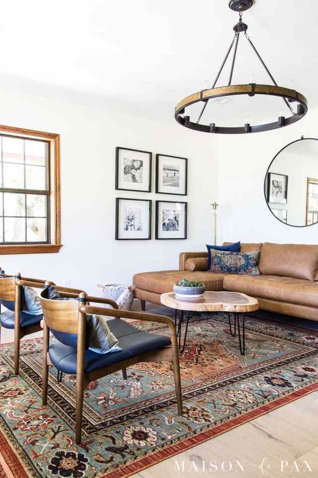 How to Decorate a Leather Sofa - Maison de Pax