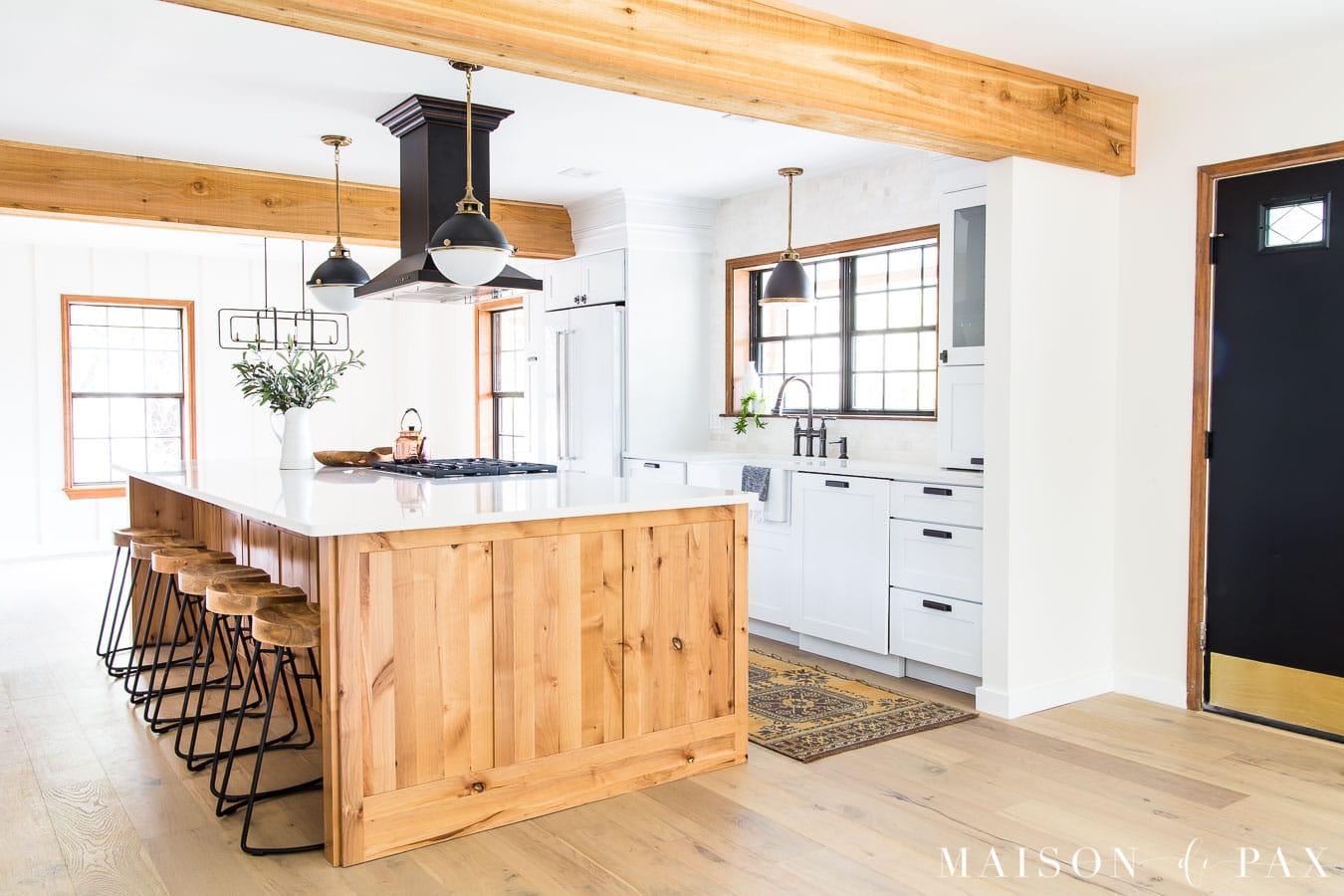 Rustic Modern Farmhouse Kitchen Reveal - Maison de Pax on Farmhouse Rustic Kitchen  id=58415