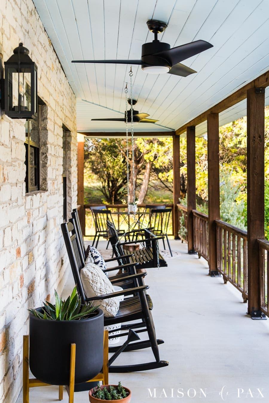 farm front porch classic modern