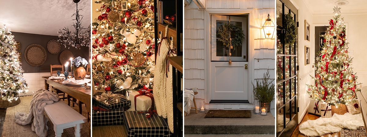 Christmas home tours with nighttime twinkle lights!