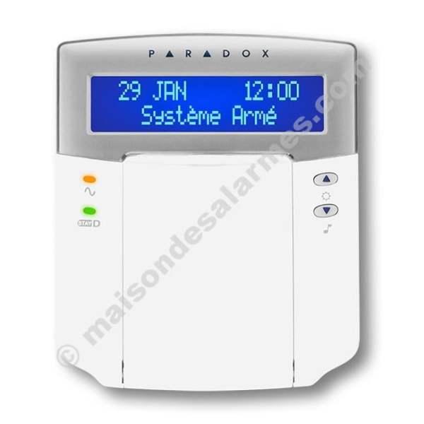 CLAVIER LCD PARADOX K32LCD (face - fermé)