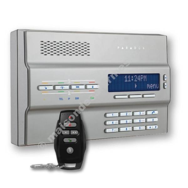 ALARME PARADOX MAGELLAN MG6250 GSM GRISE + TÉLÉCOMMANDE REM25