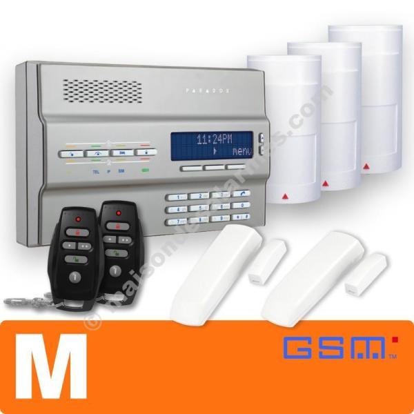 PACK ALARME SANS-FIL GSM (M) Gris