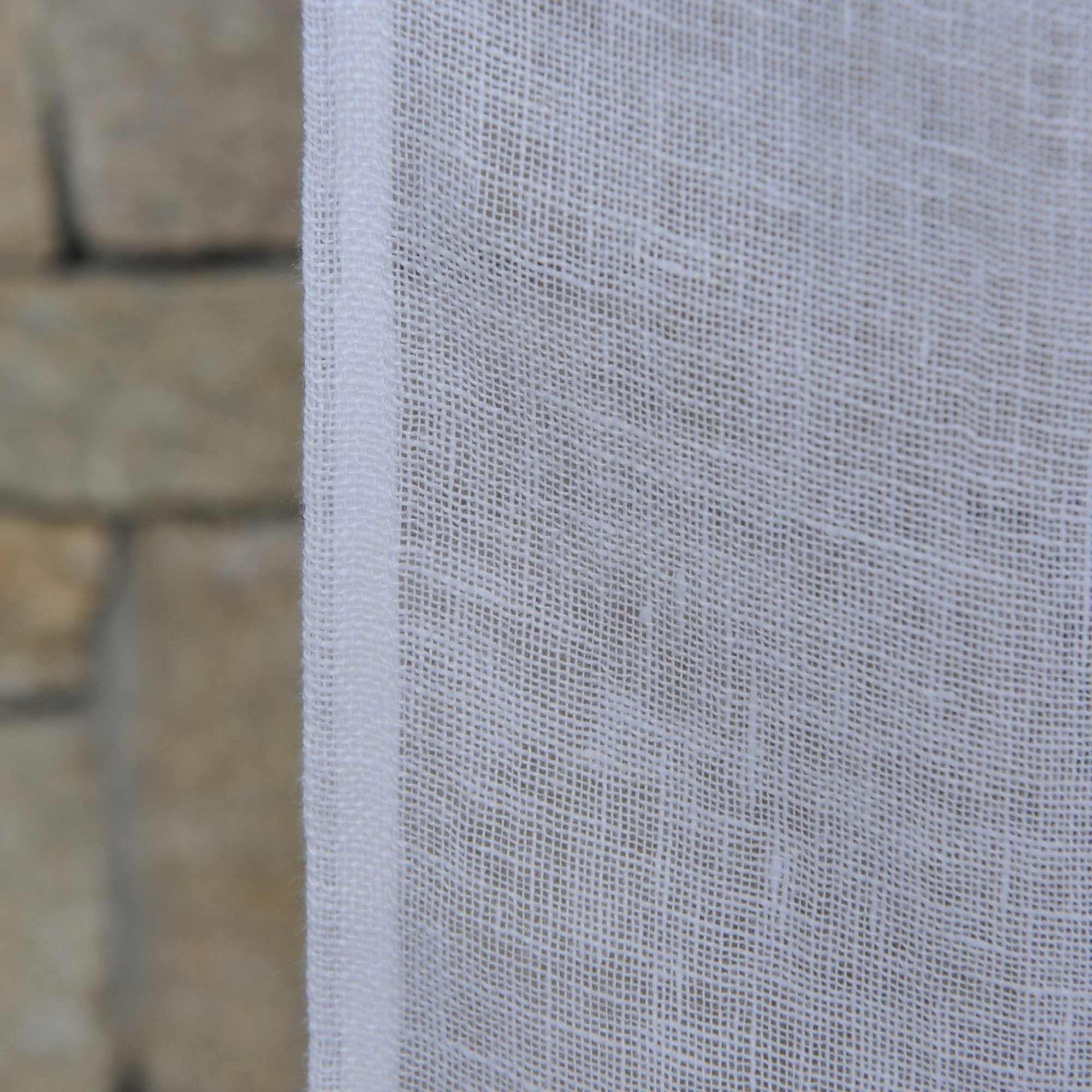 White Linen Gauze Curtain Maison Dt