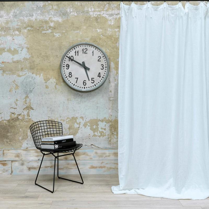rideau en gaze de coton blanc 140x270 cm