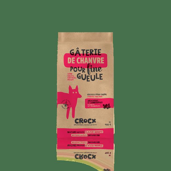 Mini gâterie santé pour animal CROCX - arachides et canneberges