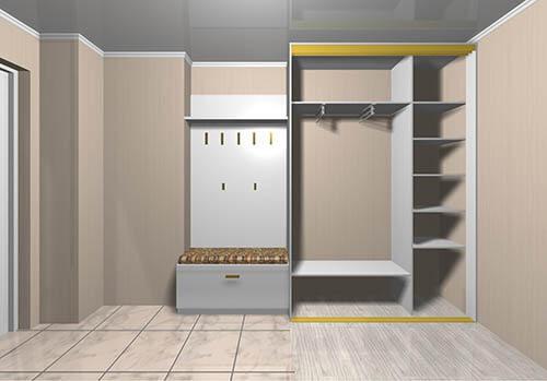 un placard avec des portes coulissantes