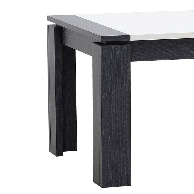 Table Rectangulaire 200x100x75cm Avec Allonge Blanc Laqu