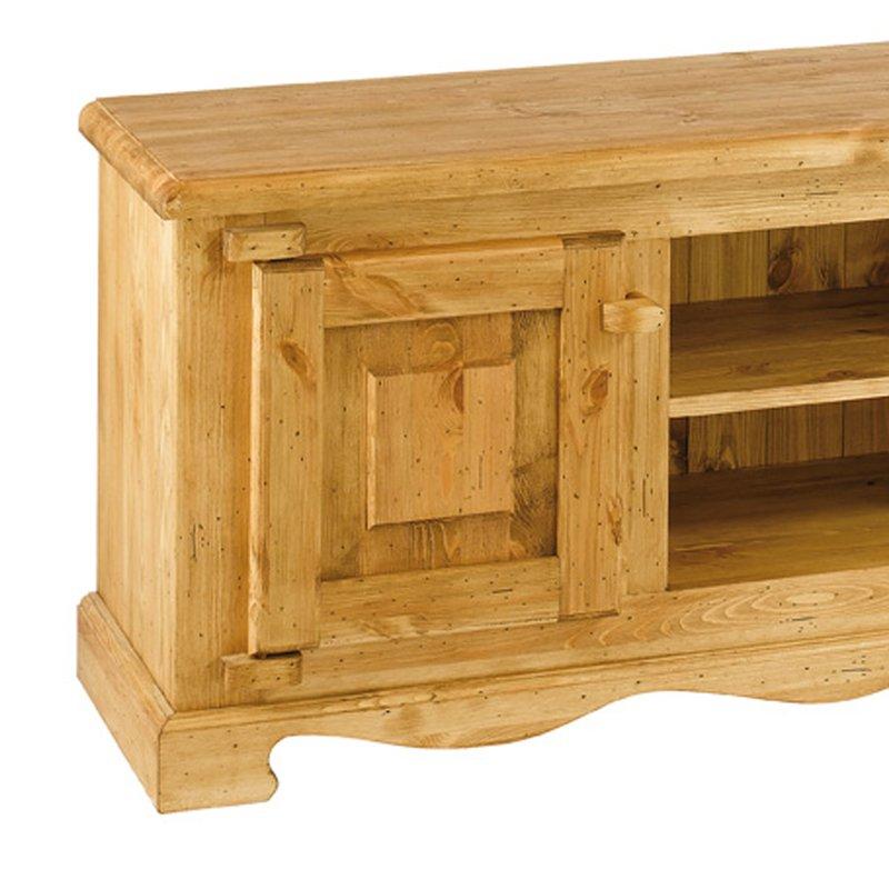 meuble tv hifi meuble tv rustique en pin massif 2 portes 2 niches