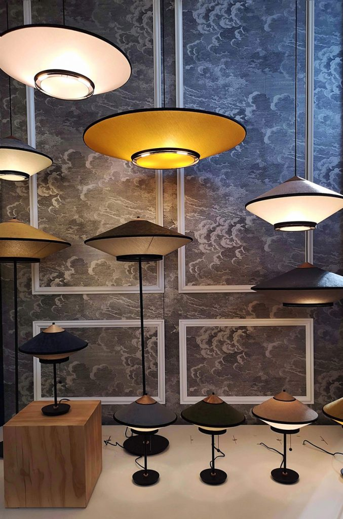 maison et objet 2019 lampade tessuto forestier
