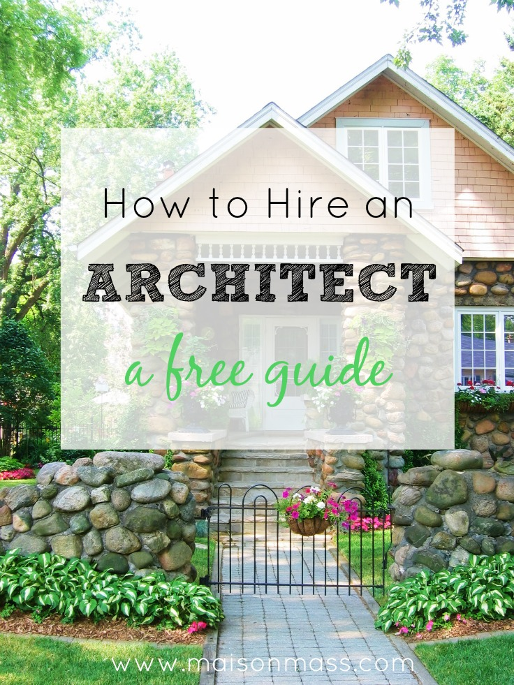 How to hire an architect, hiring an an architect, working with an architect, free guide to working with an architect
