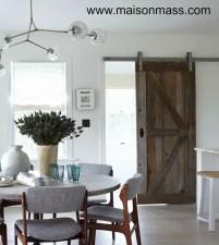 barnwood door, sliding door, rails, interior, rustic