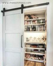 sliding barn door, rail, pantry, white