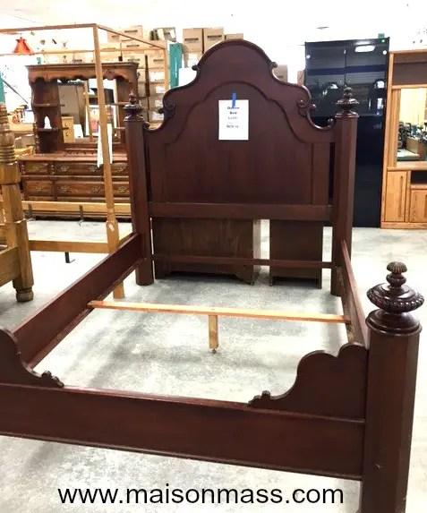 antique mahogany bed, Restore stores, Habitat for Humanity