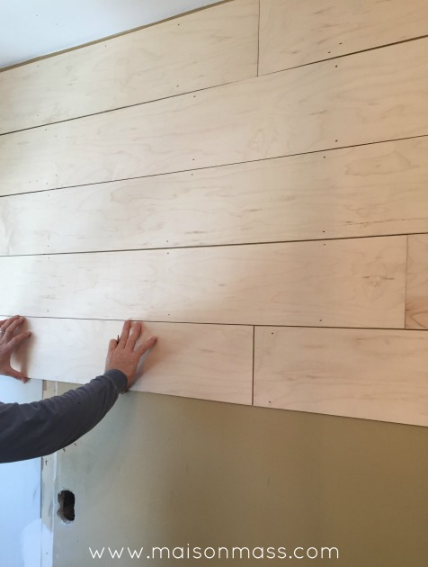 Office Overhaul, plank wall