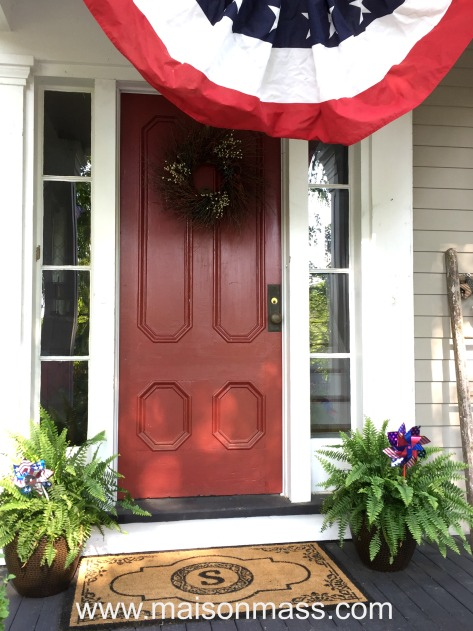 patriotic decor, independence day, bunting, flag