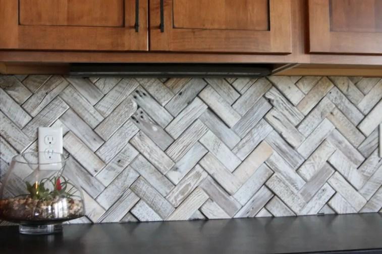 Kitchen Backsplash, wood porcelain backsplash