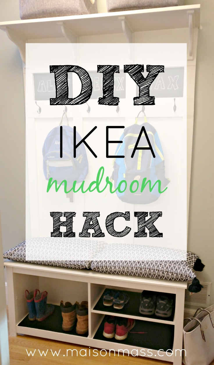 diy ikea mudroom hack maison mass. Black Bedroom Furniture Sets. Home Design Ideas