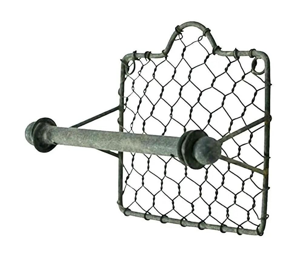 farmhouse chicken wire toilet paper holder