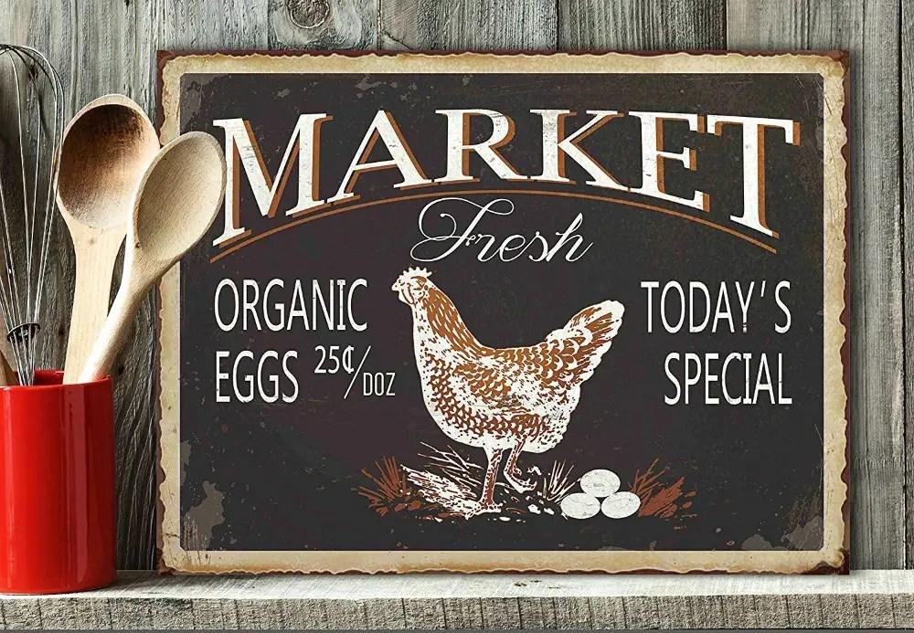 Farmhouse fresh eggs sign